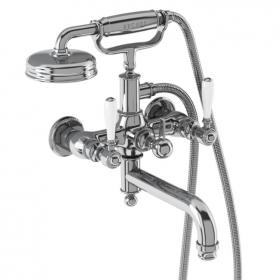 Arcade Chrome Wall Mounted Bath Shower Mixer with Choice of Handle