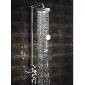 Crosswater Waldorf Thermostatic Shower Valve, Fixed Head, Handset & Bracket