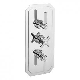 Crosswater Waldorf White Lever 2000 Shower Valve with Two Way Diverter