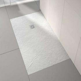 Merlyn Truestone White 1000 x 800mm Rectangular Shower Tray & Waste