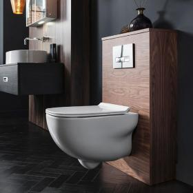 Bauhaus Wild Rimless Wall Hung WC and Thin Line Soft Close Seat