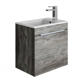 Bauhaus Zion Driftwood 500mm Wall Hung Drawer Unit with Basin