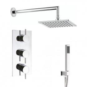 Crosswater Kai Lever Triple Shower Valve with Square Head Pack