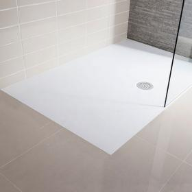 Simpsons 1400 x 900mm White Slate Textured Effect Shower Tray