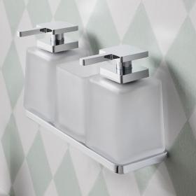 Photo of Crosswater Wisp Soap Dispenser, Tumbler & Triple Wall Holder