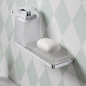 Crosswater Wisp Soap Dispenser, Soap Dish and Triple Wall Holder